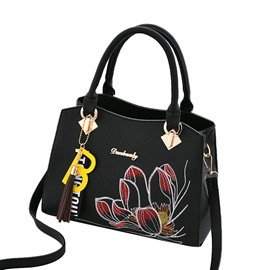 Ericdress Fashion Floral Embroidery Tote Bag