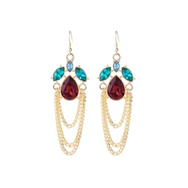 Ericdress Boho Diamante Vintage Drop Earring