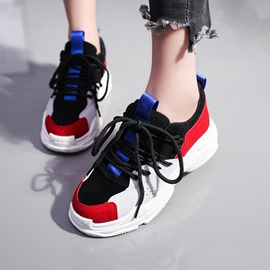 Ericdress Splice Color Flat Sneakers