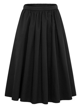 Ericdress Ankle-Length Pleated Women's Skirt
