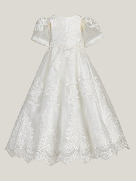 Ericdress Short Sleeves Appliques Ball Gown Christening Dress