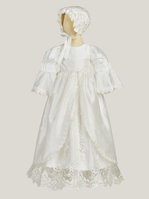 Ericdress Sleeves Appliques Baby Girl Christening Gown