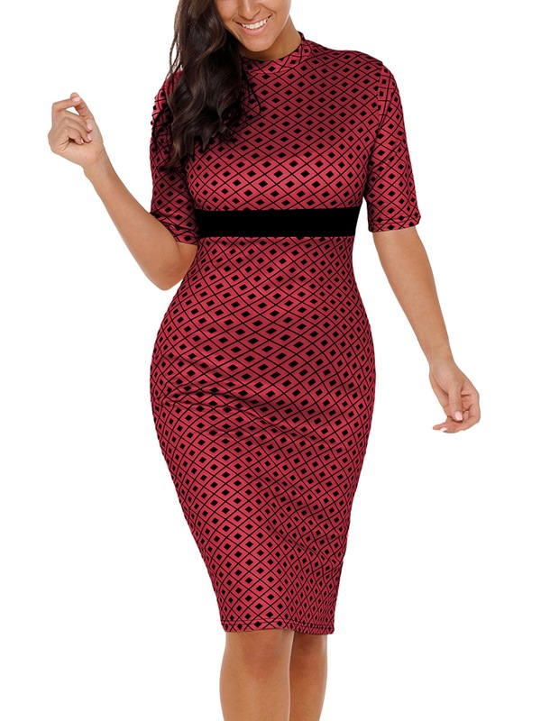 783428c0bee99b Ericdress Patchwork Pullover Sexy Bodycon Dress ...
