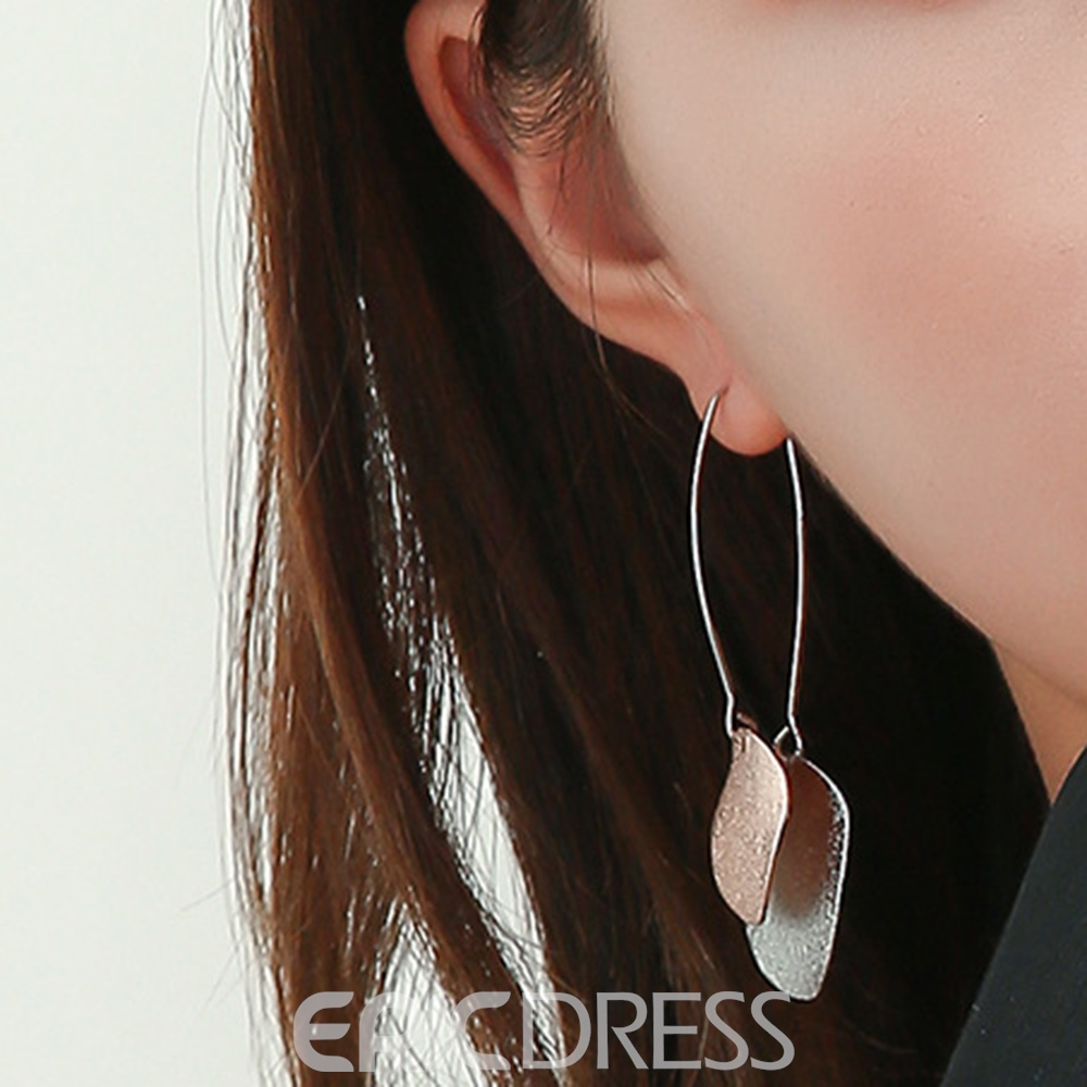 Ericdress Alloy Two-Tone Round Plate Drop Earring