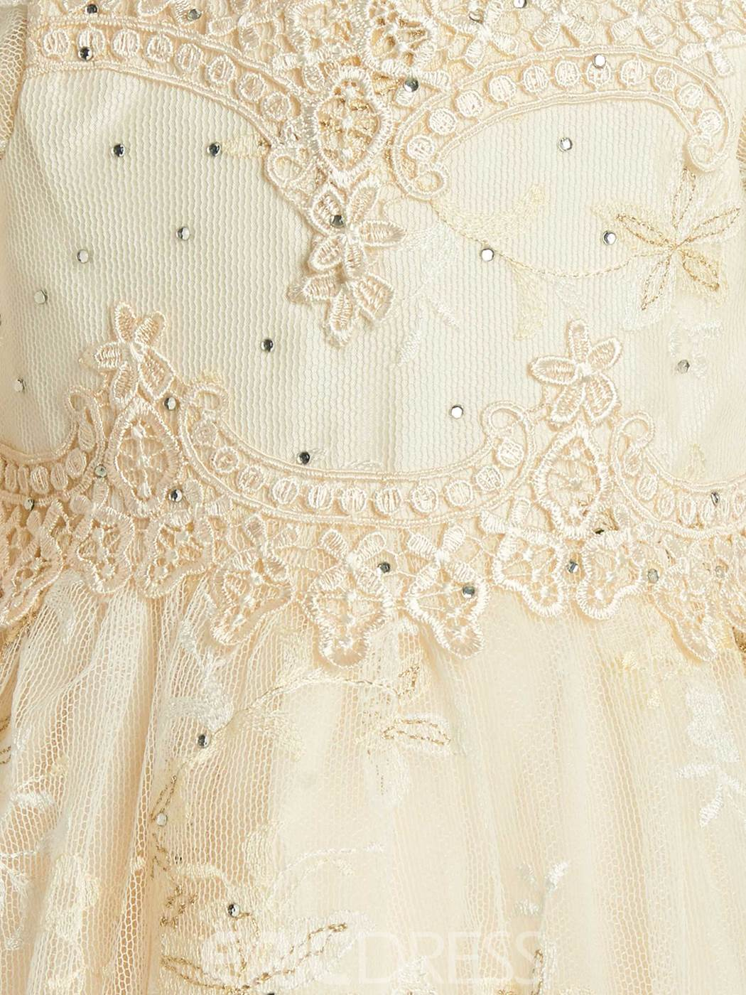 Ericdress Luxury Stunning Lace Tulle Baptism Christening Gown for Girls