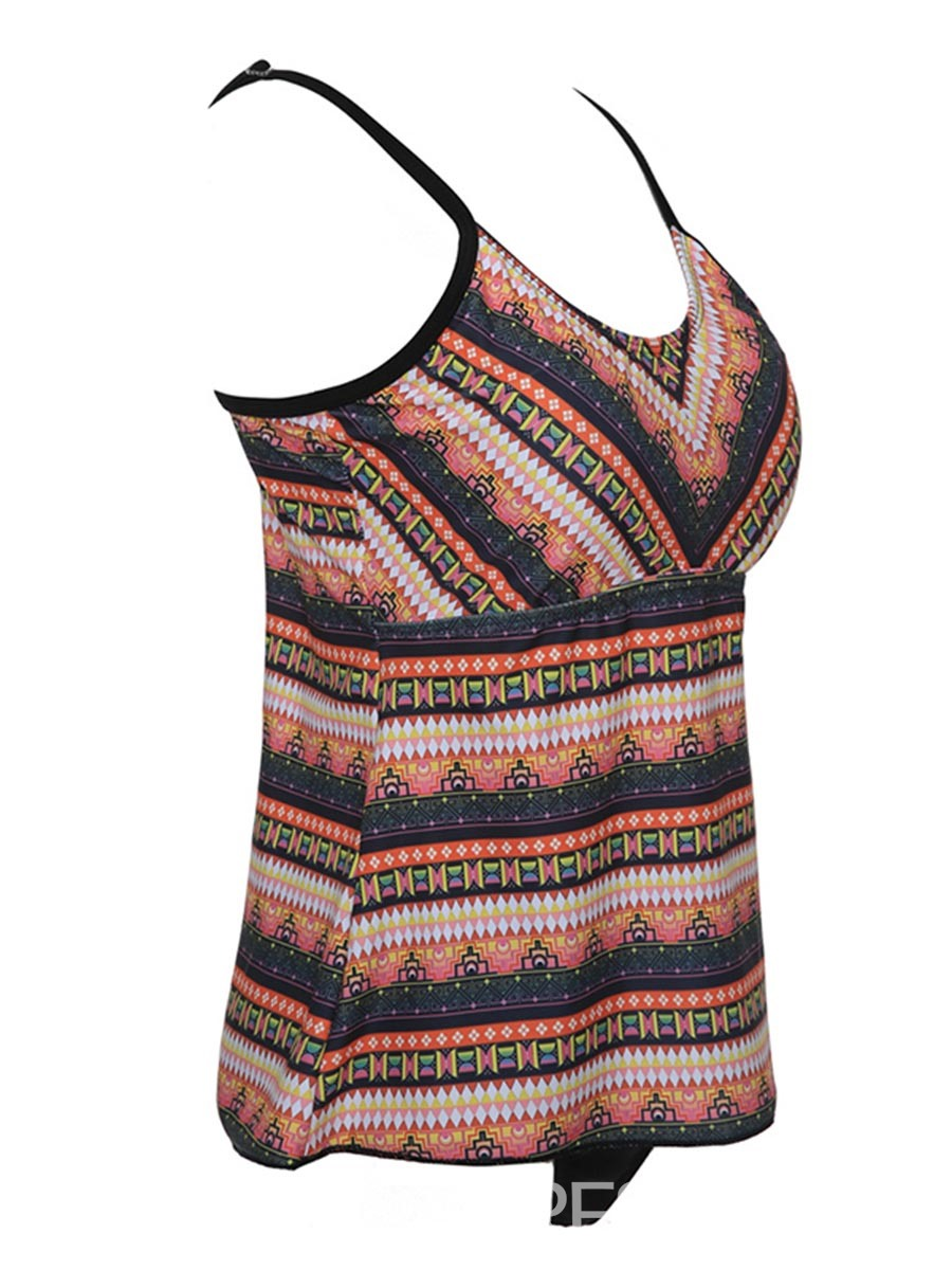Ericdress Plus Size Geometric Print One Piece Bathing Suits