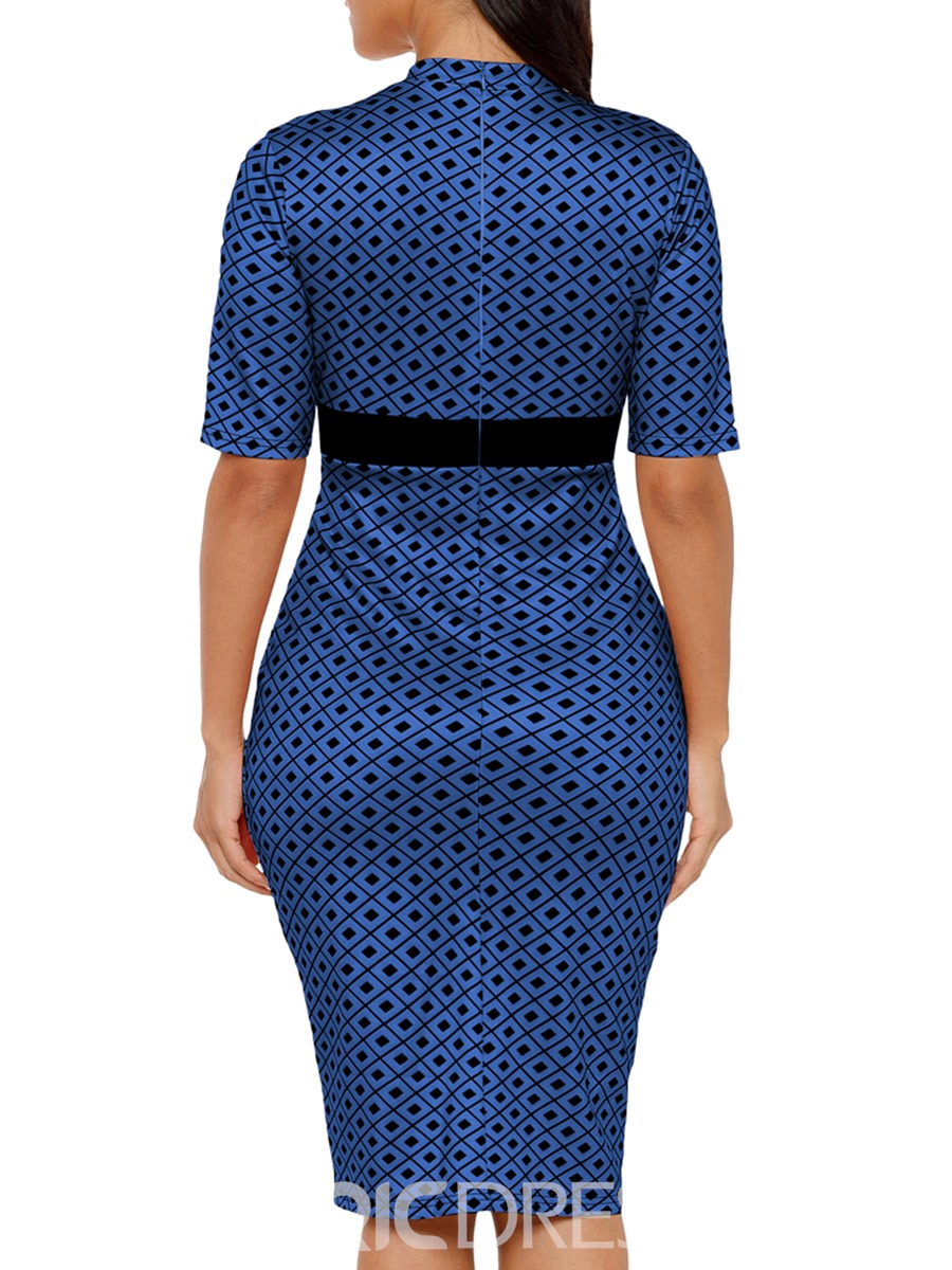 Ericdress Patchwork Pullover Sexy Bodycon Dress