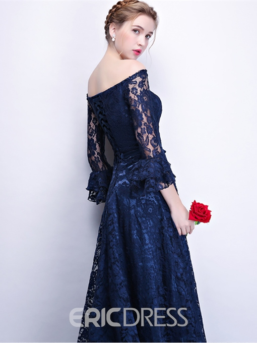 Ericdress A Line 3/4 Sleeve Lace Long Prom Dress