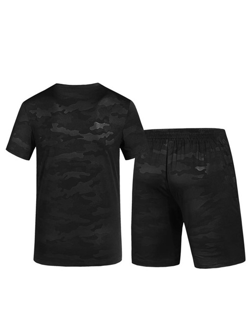 Ericdress Camouflage T Shirt Shorts Mens Summer Sports Suits