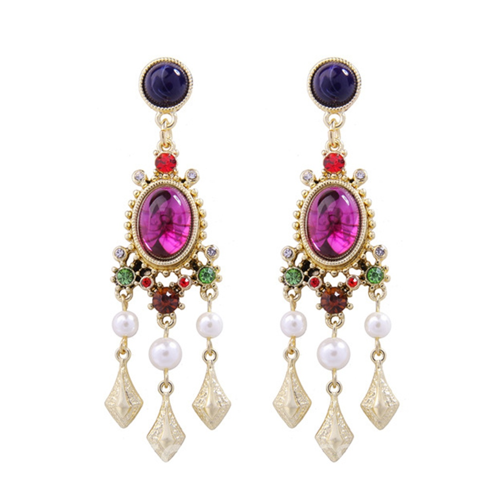 Ericdress Baroque Artificial Stones Retro Drop Earrings