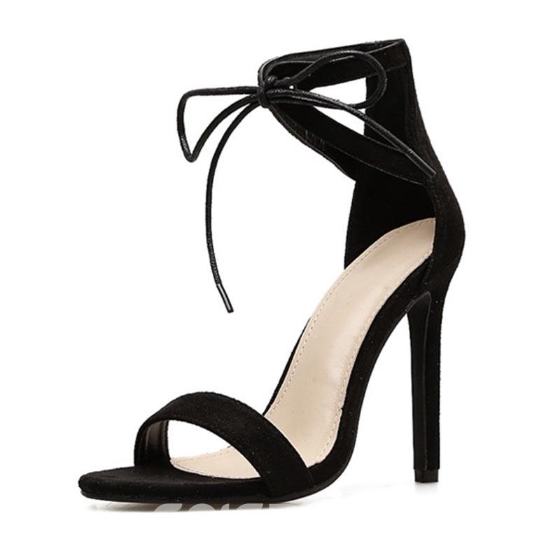 Shoespie Lace Up Stiletto Heel Sandals