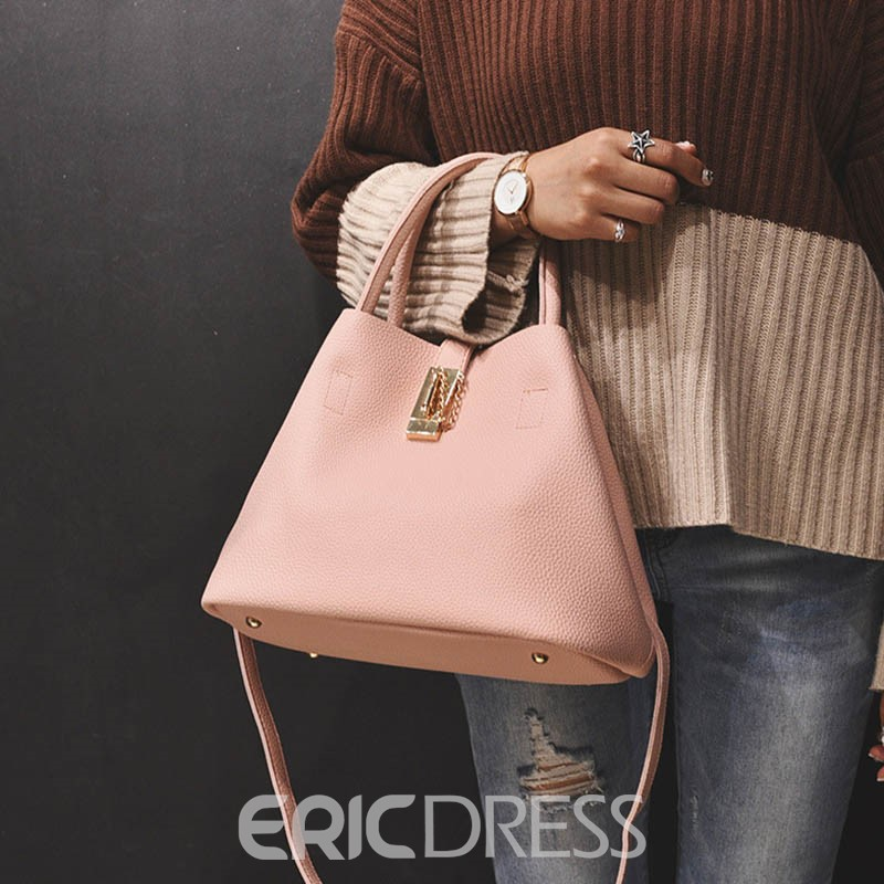 Ericdress Morden Style Hasp Tote Bag