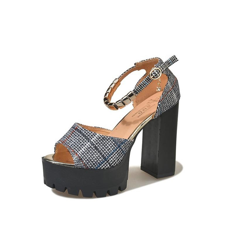 Ericdress Open Toe Strapped Chunky Heel Sandals