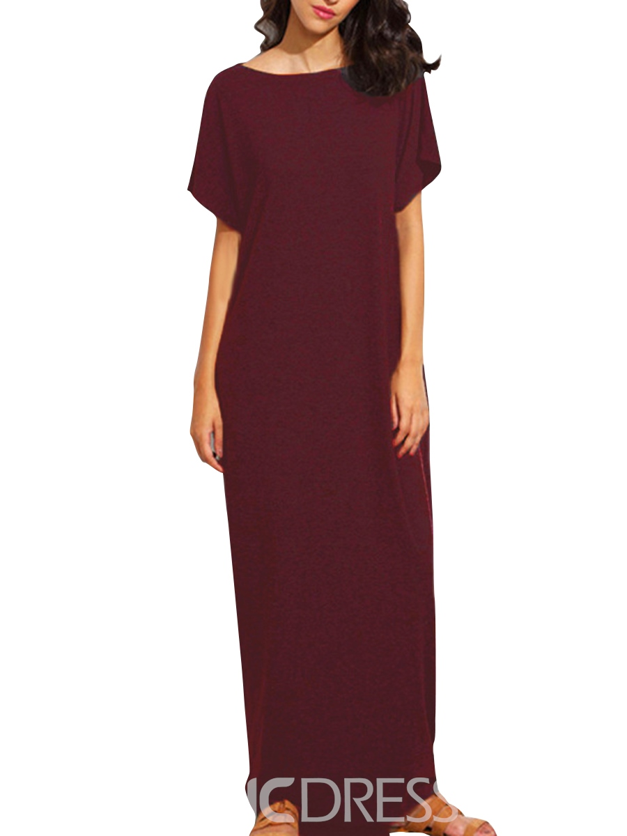 Ericdress Batwing Sleeve Ankle-Length Casual Dress