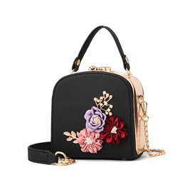 Ericdress Elegant Floral Chain Tote Bag