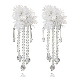 Ericdress Boho Crystal Flower Tassels Earring