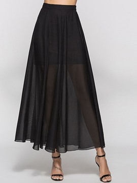 Ericdress Ankle-Length Mesh Women's Skirt