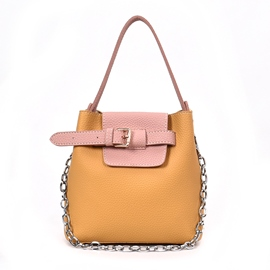 Ericdress Fresh Color Block Chain Crossbody Bag