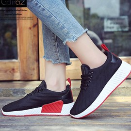 Ericdress Mesh Lace-Up Platform Women's Sneakers