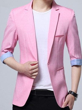 Ericdress Slim Fit Notched Lapel Men's Blazer