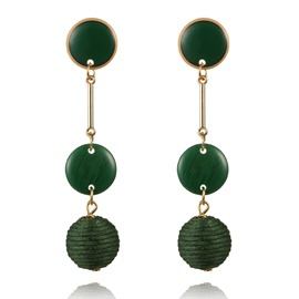 Ericdress Jade Lantern Drop Earring