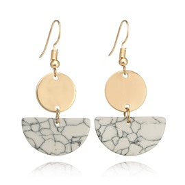 Ericdress Semicircle Marble Chic Ladies Earring