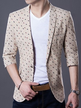 Ericdress Notched Lapel Slim Fit Men's Casual Blazer