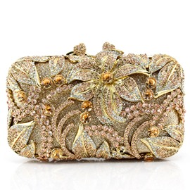 Ericdress Luxury Style Rhinestone Embossed Clutch