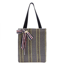 Ericdress Knitted Medium Stripe Handbag