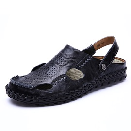 Ericdress PU Sewing Slip-On Closed Toe Men's Sandals