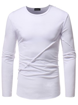 Ericdress Plain Loose Long Sleeve Mens Casual T Shirts