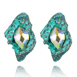 Ericdress Rhombus Coloured Diamond Stud Earring