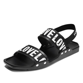Ericdress Cloth Print Slip-On Men's Sandals