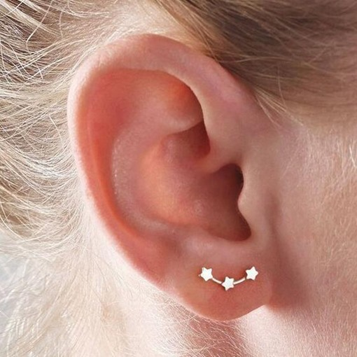 Ericdress Little Star 925 Silver Stud Earring