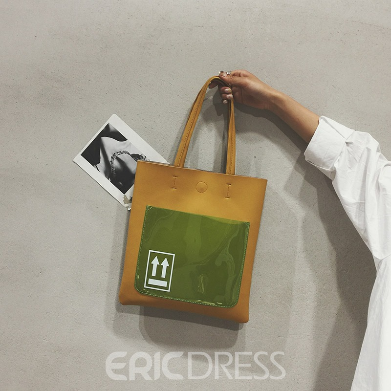 Ericdress Fashion Color Block Tote Bag