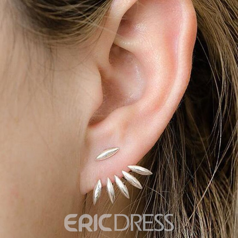 Ericdress Chic Marquise Cut Leaves Stud Earring