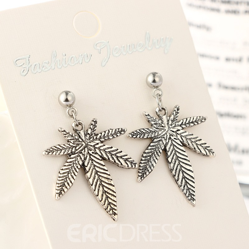 Ericdress Exotic Leaves Drop Earring