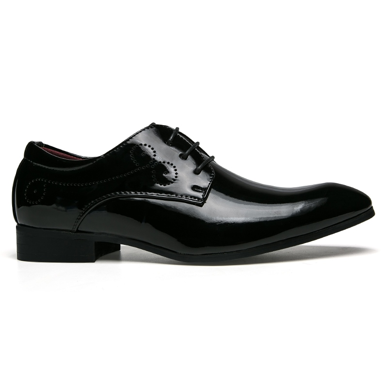 Ericdress PU Plain Lace-Up Pointed Toe Men's Oxfords