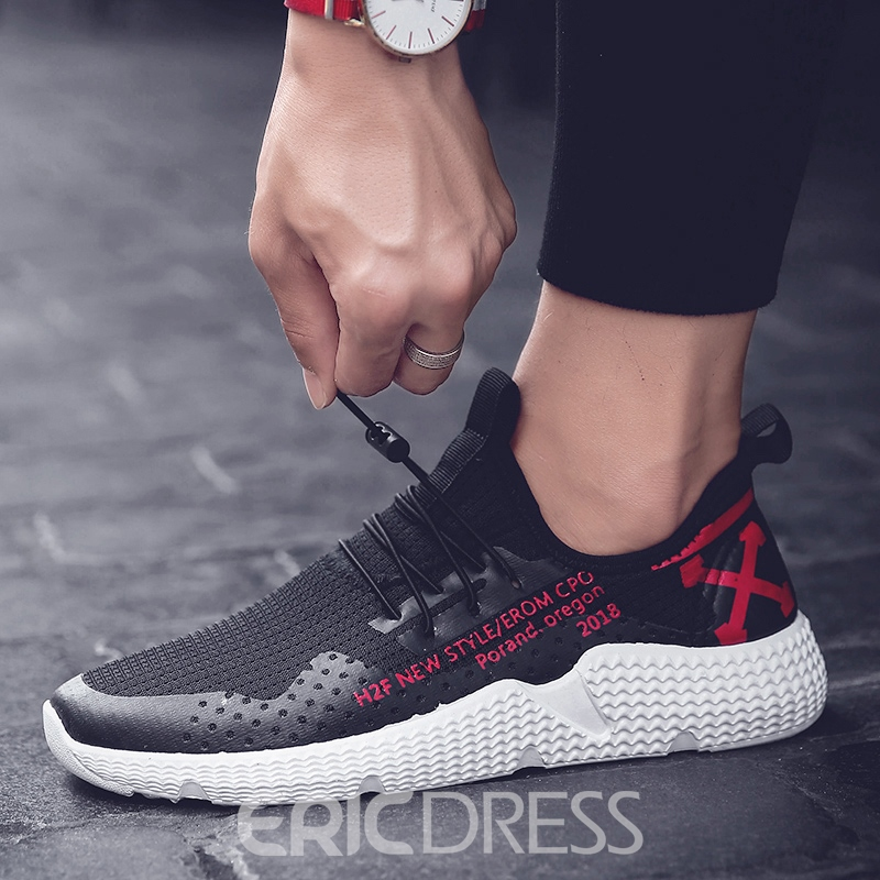 Ericdress Print Patchwork Elastic Band Men's Athletic Shoes