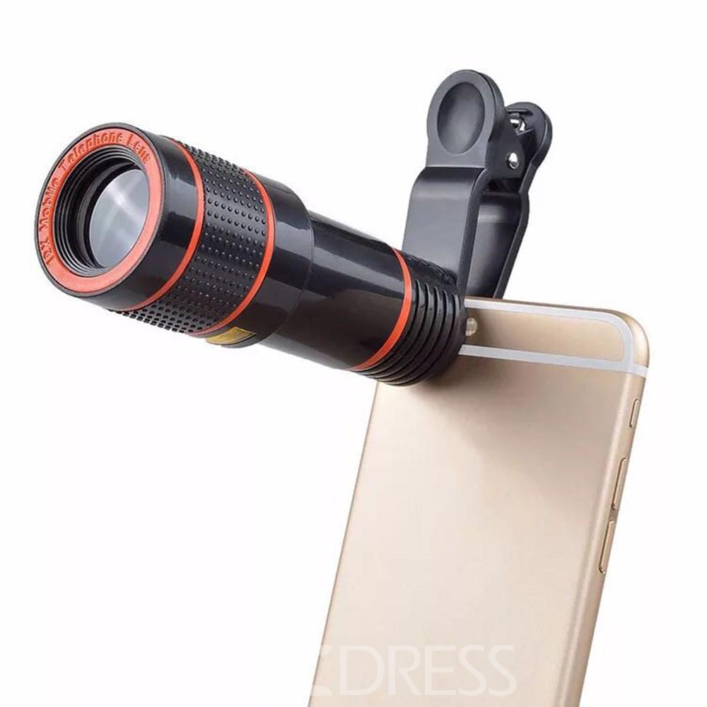 Ericdress Universal 8X 12XOptical Zoom Telescope Camera Lens Clip Mobile Phone