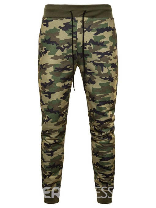 Ericdress Camouflage Lace Up Loose Mens Casual Sports Pants