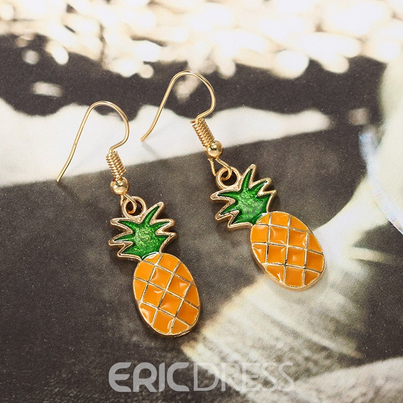 Ericdress Alloy Pineapple Fruits Short Drop Earring