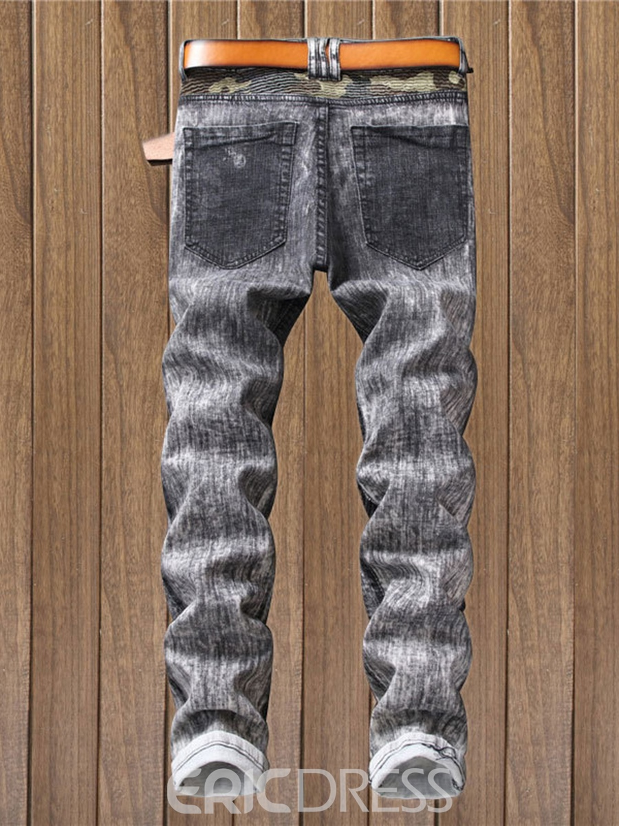 Ericdress Worn Fashion Men's Denim Pants