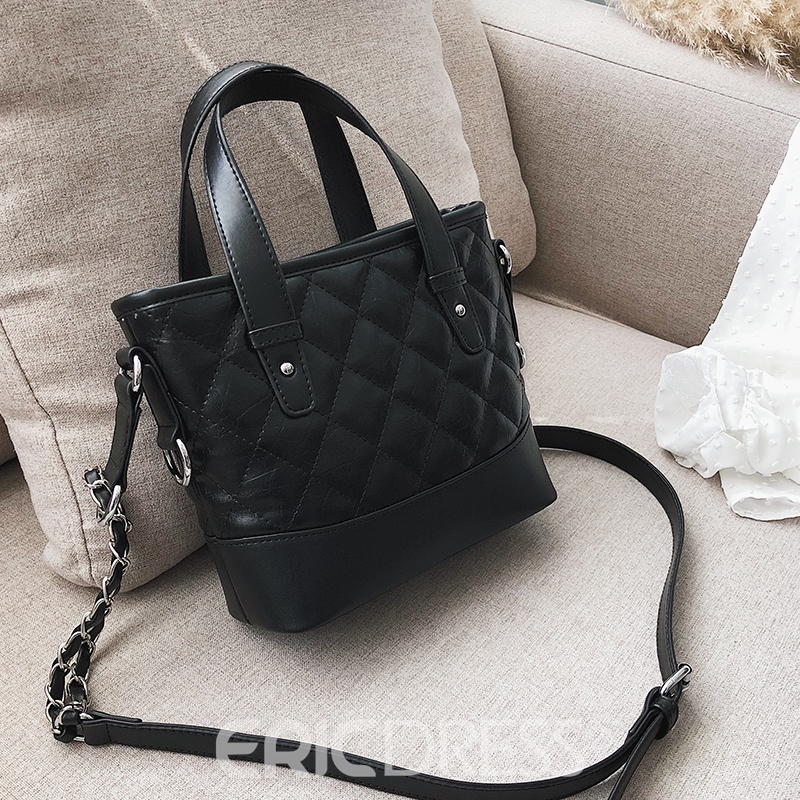 Ericdress Occident Style Diamond Lattice Tote Bag