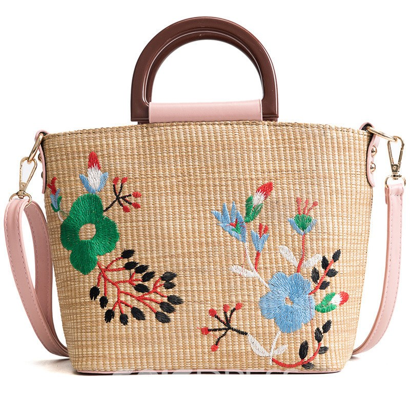 Ericdress National flavor Floral Tote Bag