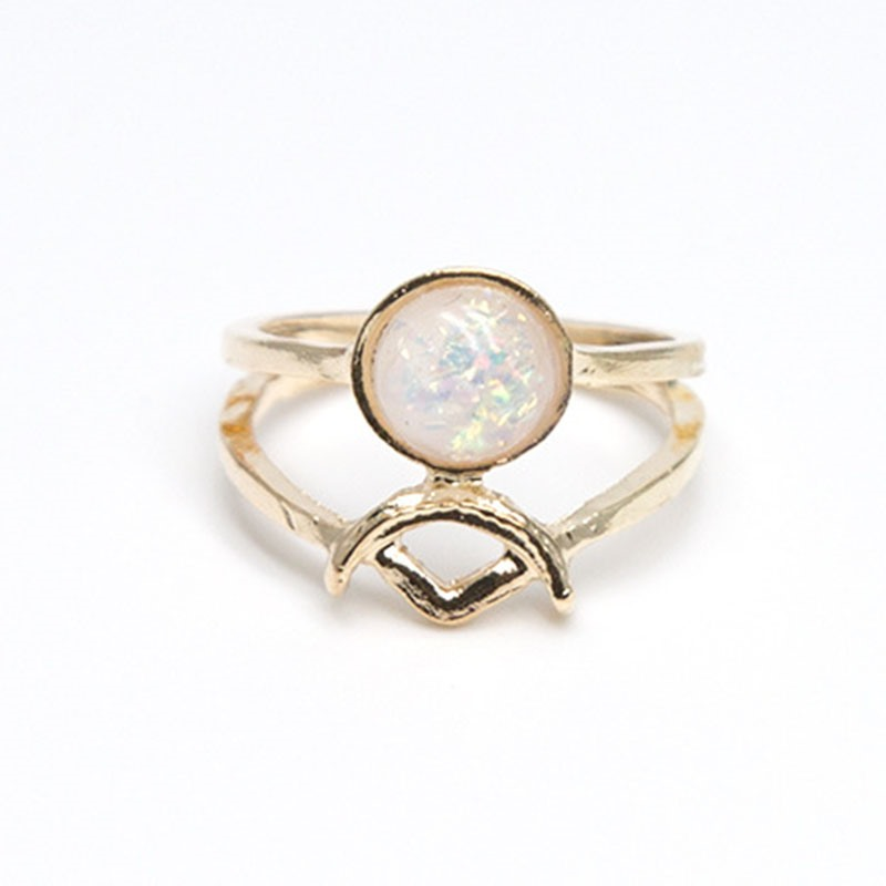 Ericdress New Chic Pink Opal Knuckle Ring