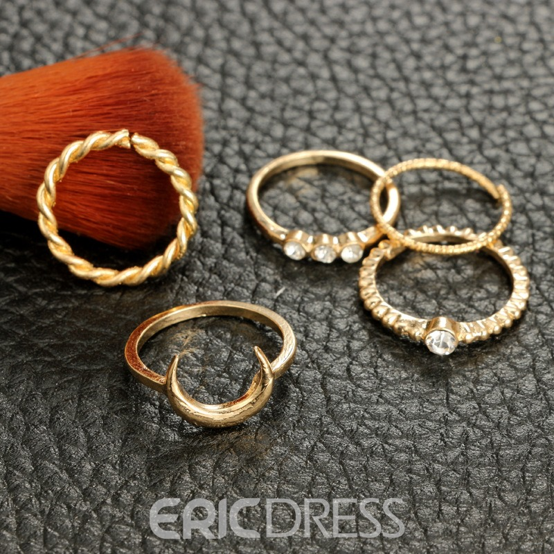 Ericdress Sweet Retro Moon rhinestone Ring