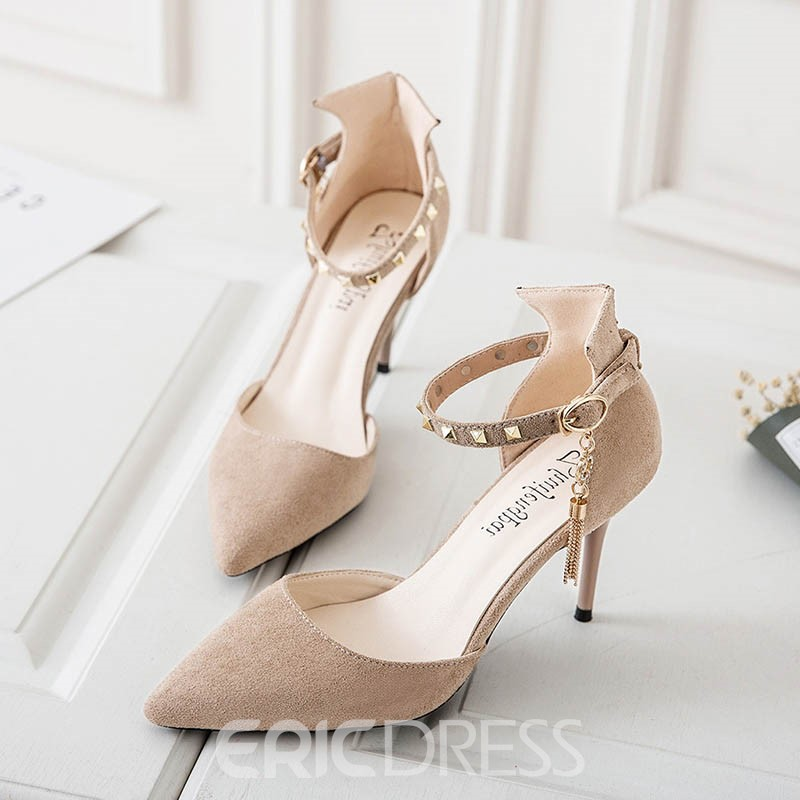 Ericdress Elegant Pointed Toe Stiletto Sandals with Rivet