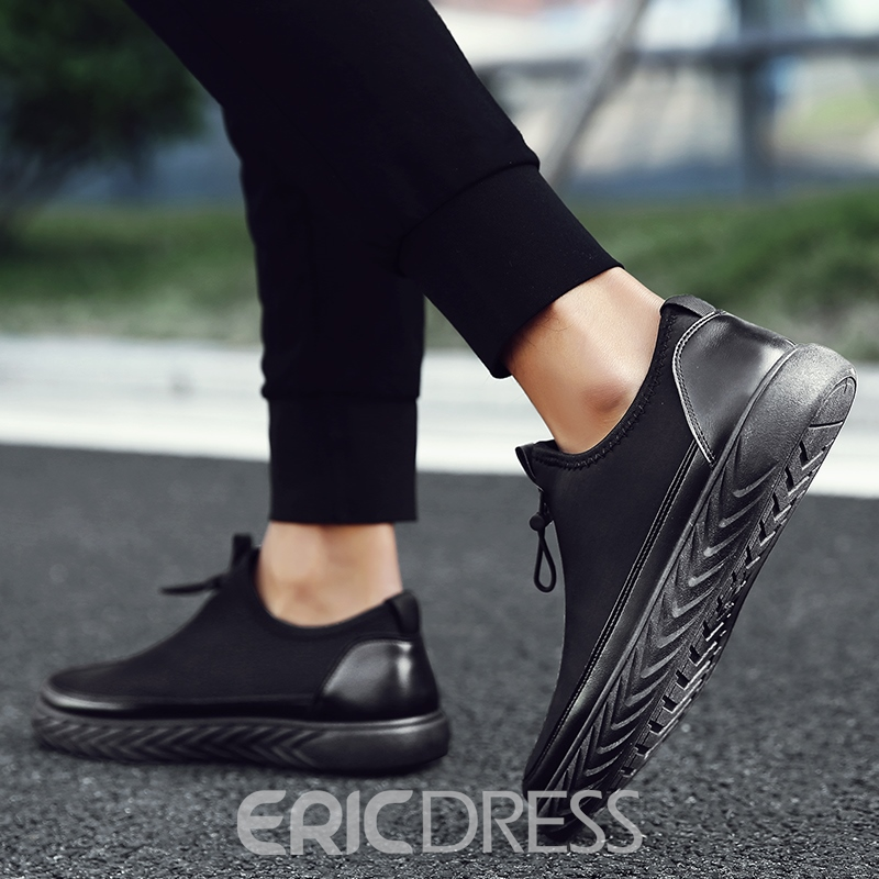 Ericdress Cloth Patchwork Elastic Band Low-Cut Men's Shoes