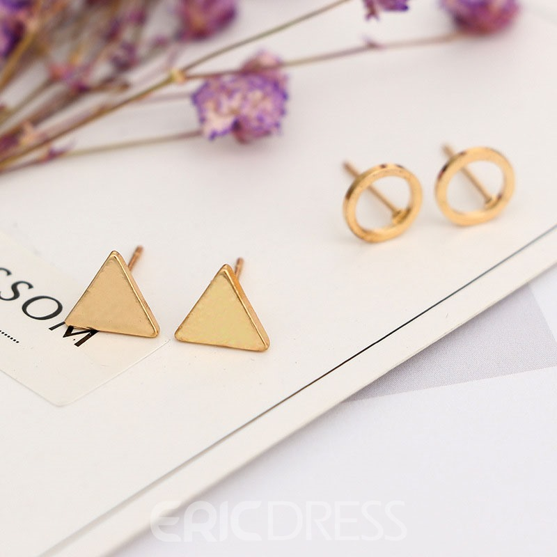 Ericdress Geometrical Shape Set Of Four Stud Earring